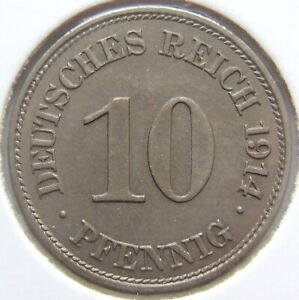 Top! 10 Pfennig 1914 E IN Uncirculated