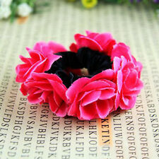 Flower Bun Garland Floral Head Knot Hair Top Scrunchie Band Elastic Bridal