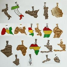 Pendant Map Country Or Dom Tom Steel New of Your Choice