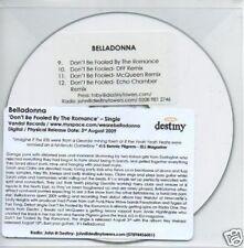 (526Q) Belladonna, Don't Be Fooled By The Romance DJ CD