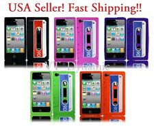 iPhone 4 Retro Cassette Soft Silicone Cell Phone Skin Case Cover Accessory 4G 4S