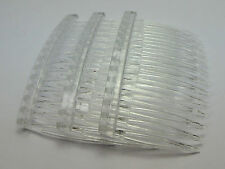 100 Clear Plastic Hair Clips Side Combs Pin Barrettes 70X40mm for Ladies Craft