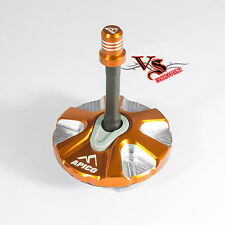 Apico Anodised Fuel Cap inc Vent Pipe KTM ENDURO EXC250 EXC300 08-17 ORANGE
