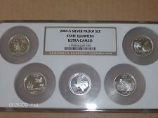 cam No Box Or COA Five Coins 2004  Set Of  Washington State Quarters Proof Dp