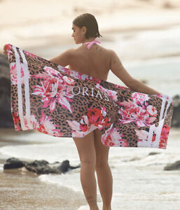 NEW Limited Edition VICTORIA'S SECRET Cheetah Peony Beach Towel