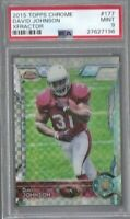 DAVID JOHNSON 2015 Topps Chrome RC XFRACTOR PSA 9 MINT RARE Houston Texans