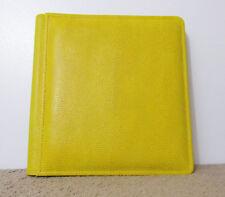 "Raika Yellow Pebble Textured Leather 9"" x 9"" Expandable Photo Album NWOB"