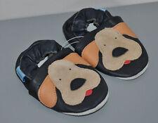 Funkee pieds en cuir souple chaussures de bébé bleu marine pour chien 0-6 mois
