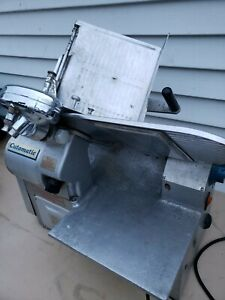 Vintage Lan Elec Comm. Meat Slicer Made In England Precision Built Automatic