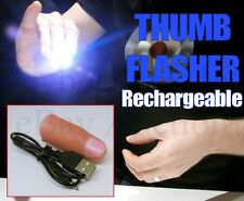 THUMB FLASHER VANISH IN FLASH LIGHT THUMBTIP MAGIC TRICK FULLY USB RECHARGEABLE
