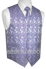 Men's Paisley Tuxedo Vest, Tie and Hankie. Formal, Dress, Wedding, Prom, Cruise