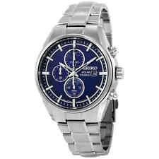Seiko SSC365 Solar 42mm Men's Chronograph Grey Titanium Watch
