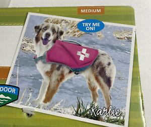 TOP PAW size Medium Dog Life Jacket  New With Tags Hot Pink, Medium 30-55 lbs