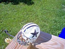 Autographed Bob Lilly Dallas Cowboys Signed White Mini Helmet w/HOF 1980 Insc