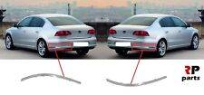 FOR VOLKSWAGEN PASSAT B7 2011-2014 SEDAN REAR BUMPER CHROME TRIM PAIR SET