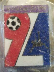 Vintage World Cup USA 94 Full Color Enamel Large 94 Soccer Player Original Pin