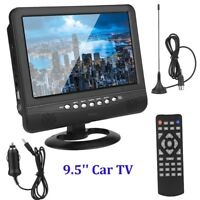 9.5 Inch Car Portable TV LCD Analog Car Digital Television MP3 Player DC 9-12V
