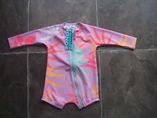 Baby Girl's Bonds Floral Long Sleeve Rashie/rash Suit/swimsuit Size 0
