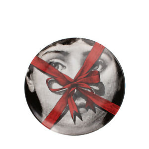 FORNASETTI MILANO Tema e Variazioni Wall Plate No. 171 Red Bow Made in Italy
