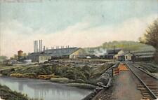 Copper Mill, Lisbon, Ohio Railroad Tracks 1907 Vintage Postcard