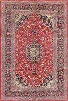 Vintage Traditional Floral RED Ardakan Area Rug Hand-Knotted Oriental Wool 7x10