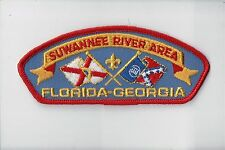 CSP Suwanee River Area Council FL-GA T-3 Orig GA Flag Plastic Back 701319