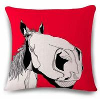 "Home Decor Red Donkey Fashion Design Cotton Linen Cushion Cover 45cm/18"" O"