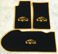 Autoteppich Kofferraum Set für Mazda MX 5 NA 1989-1998 Motiv gelb 3teilig Neu