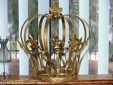 French style Decor GOLD king queen large crown  NEW wrought iron.