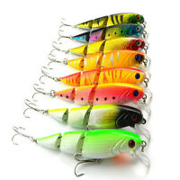 8pcs 10cm 14g Fishing Lure Boinic Bass Bait Lifelike 3 Jointed Minnow Crankbait