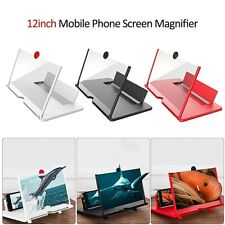"""12"""" Mobile Phone Screen Magnifier Video 3D HD Amplifier Pull-out Stand Bracket"""