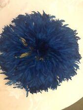 15' Dim Juju-Hat Feather Bamileke/Cameroon African Art_BLUE