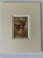"""Antique Flower Fairy """"Wind"""" Print By Cicely Mary Barker"""