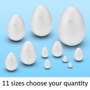 20mm to 140mm Polystyrene Eggs Kids Crafts Easter Modelling