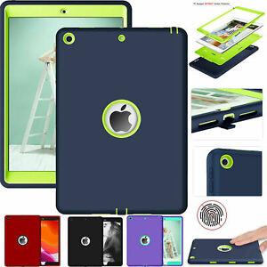 For iPad 9.7 2 3 4 5 6th 7th Gen 10.2 Air Mini 1234 Tough Rubber Hard Case Cover