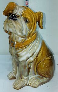 BULL DOG or Puppy Ceramic / China Figurine  20cm High x 15cm long X 20cm Wide