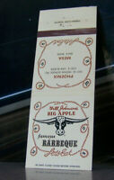 Vintage Matchbook Cover A4 Mesa Phoenix Arizona Bill Johnson's Big Apple BBQ