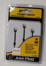 "Woodland Scenics ""Just Plug"" Lighting 5640 * N Scale Double Lamp Post Street Lts"