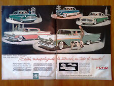 old SHEET adversiting FORD  PAGE of magazine 50s MERCURY FIRLINE