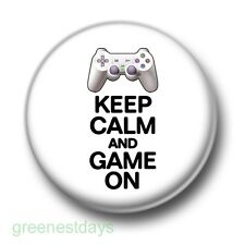 Keep Calm And Game On 1 Inch / 25mm Pin Button Badge Retro Video Computer Games