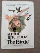 "Nostalgic Art 22147 Blechschild – Motiv: Alfred Hitchcock's ""The Birds"", neu"