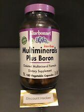 BLUEBONNET MULTIMINERALS PLUS BORON Iron Free 180 Capsules
