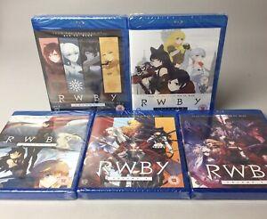 RWBY: Volumes 1-5 [Blu-ray] Bundle Anime   Ruby Rose   Rooster Teeth   NEW