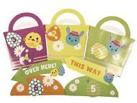 Easter Egg Hunt Kit Indoor Outdoor Search Game Signs, Baskets & Egg Tokens 0216