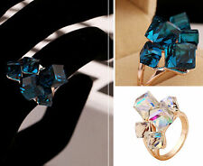 Xmas  Rose Gold  Colorful  NEW Ring  Cubic Crystal Womens  Dices