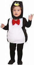 Kinderkostüm Pinguin Overall mit Kopfbedeckung 90-104 cm Karneval