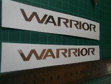 Mitsubishi Warrior Chrome ...Panel Decal.....Sticker...x2