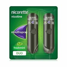 Nicorette QuickMist Mouth Spray Duo Pack, Fresh Mint, 1 mg