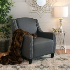 Sofia Dark Grey Fabric ArmChair  Lounge Arm Tub Chair Sofa