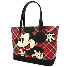 Loungefly Disney Mickey Mouse Plaid Tote Bag Purse NEW IN STOCK